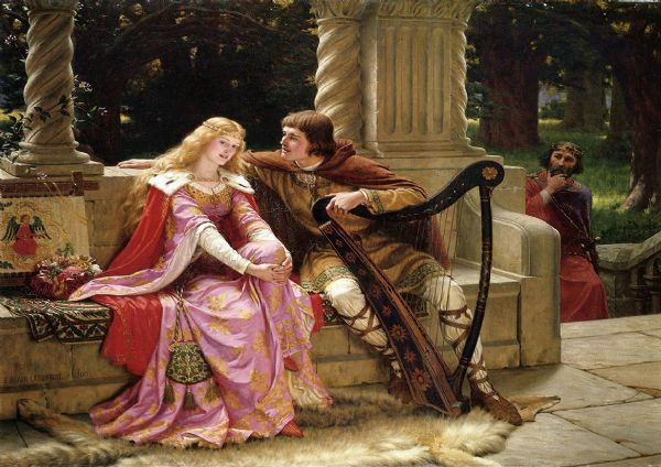 Leighton, Edmund Blair: The End of the Song. Fine Art Print/Poster. Sizes: A4/A3/A2/A1 (003057)
